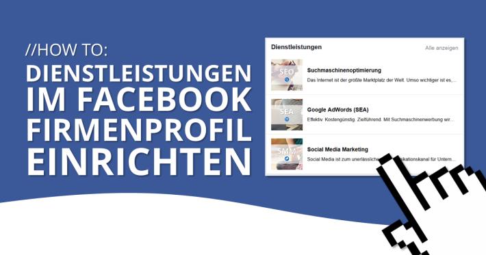 Facebook Dienstleistungen